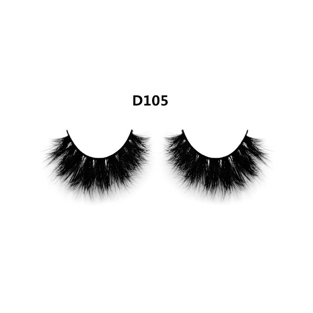 Super Thick Handmade 1 Pair Natural Long 3d Mink False Eyelashes