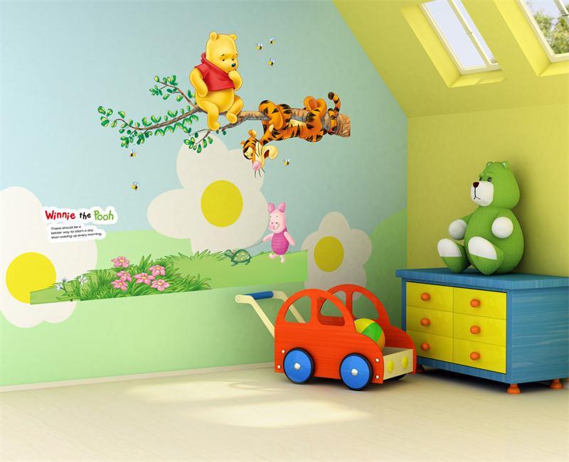 HTB1GkjRKXXXXXavXFXXq6xXFXXXK - Animals zoo cartoon Winnie Pooh wall sticker for kids room