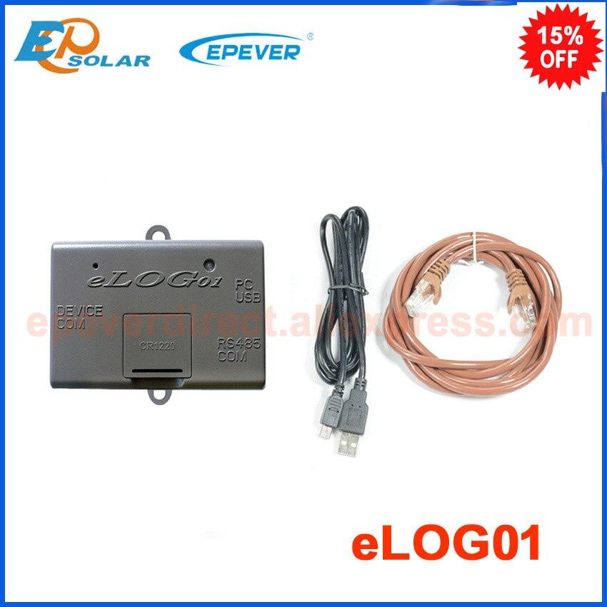 Elog01 enregistrement accessoire EPSolar compatible avec PC logiciel et MT50 pour la surveillance en temps réel