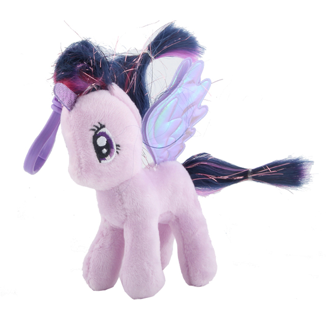 Ty Beanie Boos Purple Horse Plush Doll Toys Unicorn Twilight Sparkle  Stuffed Animal Doll Key Chain 8963bd9d2007