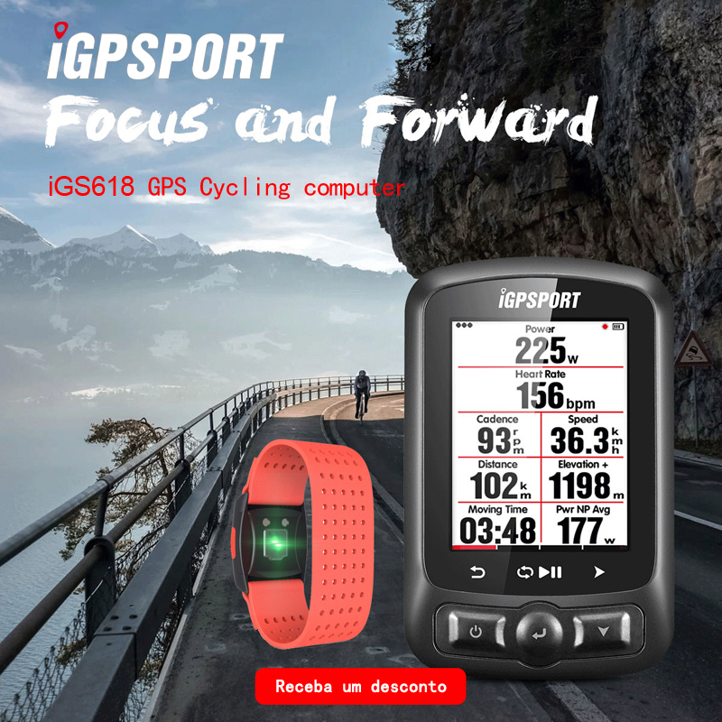 ANT Bluetooth cycling power meter iGS618 iGPSPORT gps Bike computer navigation Speedometer IPX7 3000 hours data