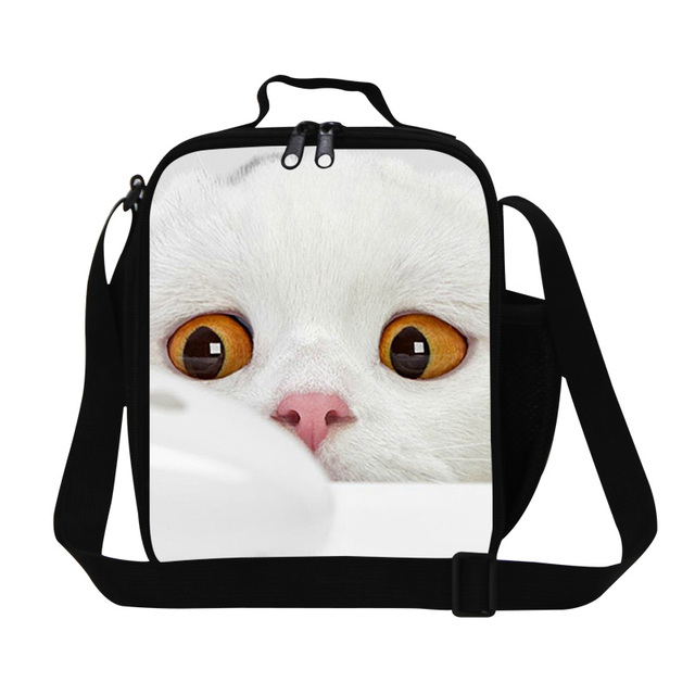 72cd87867e5a 3D Cat And Mouse Print Lunch Bag For Kids Insulated School Lunch Box Office  Ladies Thermal Small Snacks Bag Travel Picnic Bag