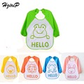 Retail New Baby Bibs Waterproof Long Sleeve Unisex Baby Feeding Bib Clothing For Lunch Cartoon Animal Bibs 5 Style Free Shipping