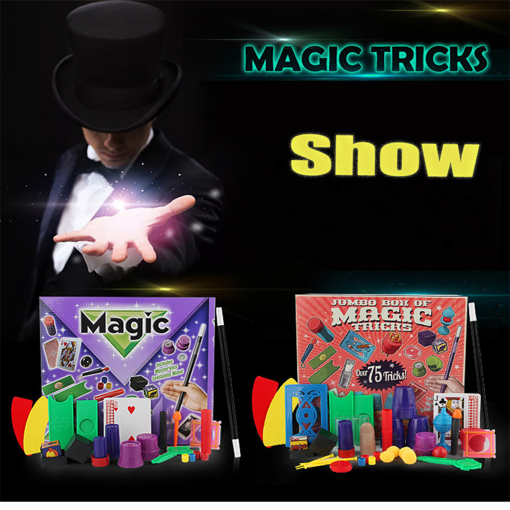 Prank Magic Set For Kids Magic Tricks Toys For Children DVD Kit Fun Funny Gadgets Novelty Kid Birthday Gift