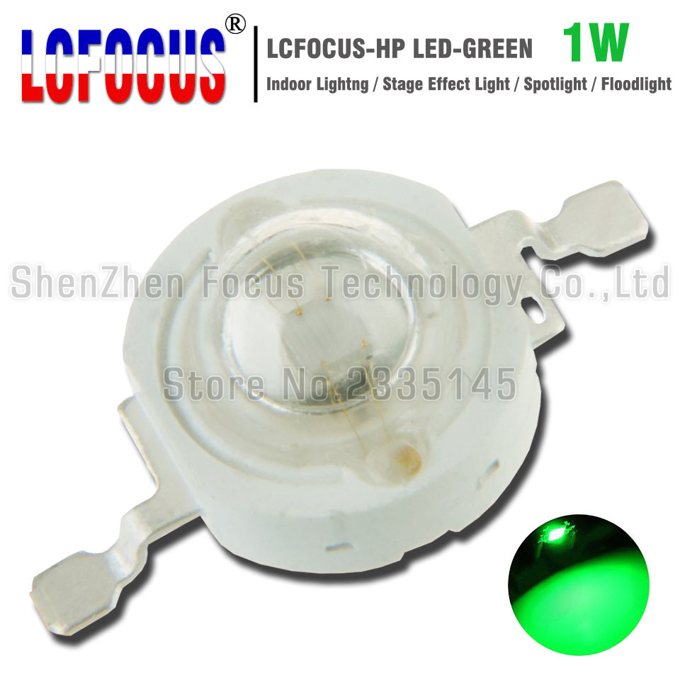High Power LED Chip 1W Green 520-525nm COB DIY Spotlight Stage Light Floodlight Landscape Lighting For 1 3 5 Watt Light Beads