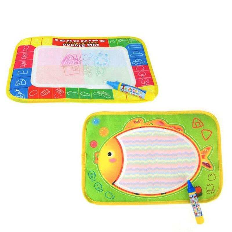Детская magic Doodle Детские игрушки Творческий повторного использования воды холст одеяло записи граффити ручка Высокое качество образования