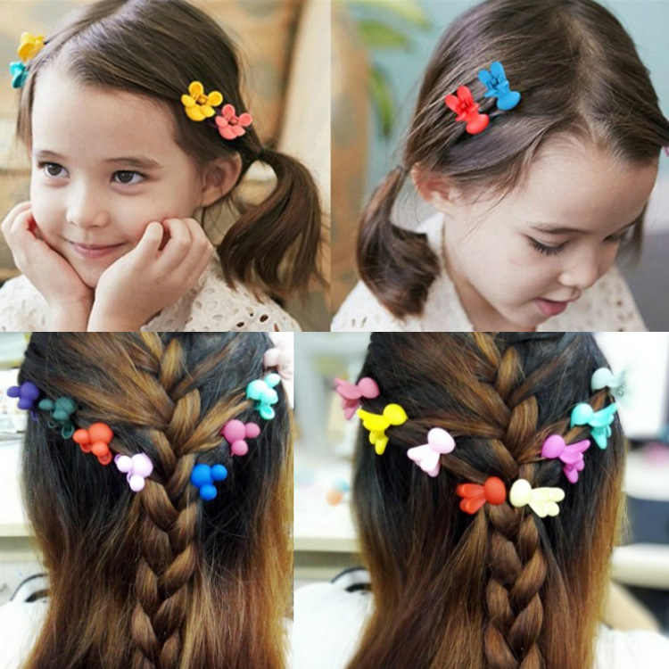 18 colors available Girl Cute Hair Accessories Hair Claws Rabbit Mouse hair decoration clip hairpin