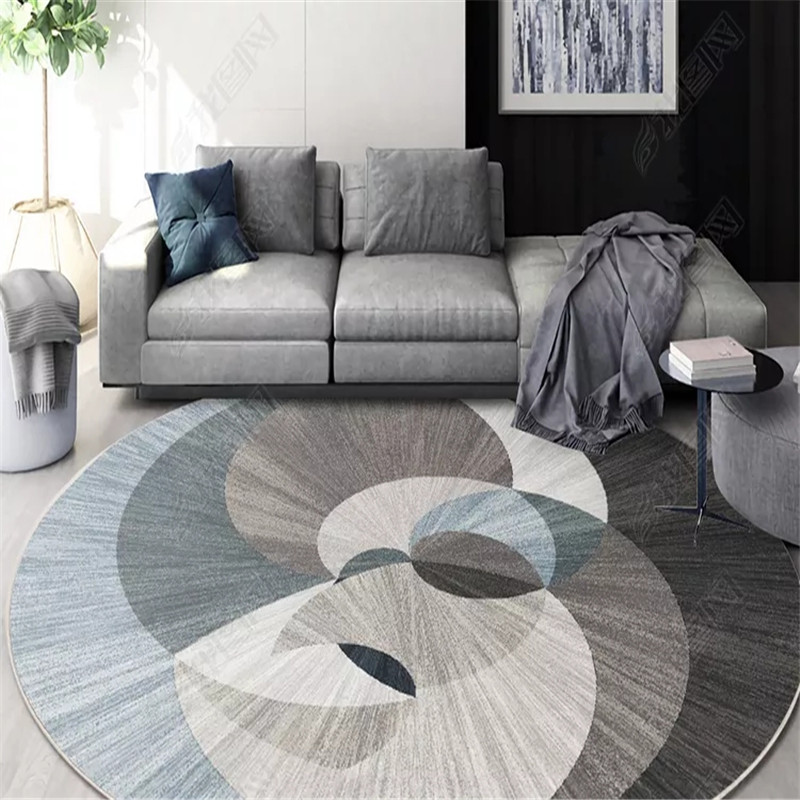 Nordic Geometric Round Carpets For Living Room Rug Big Size Decoration Office Hotel Home Carpet INS Popular Bedroom Floor Mat