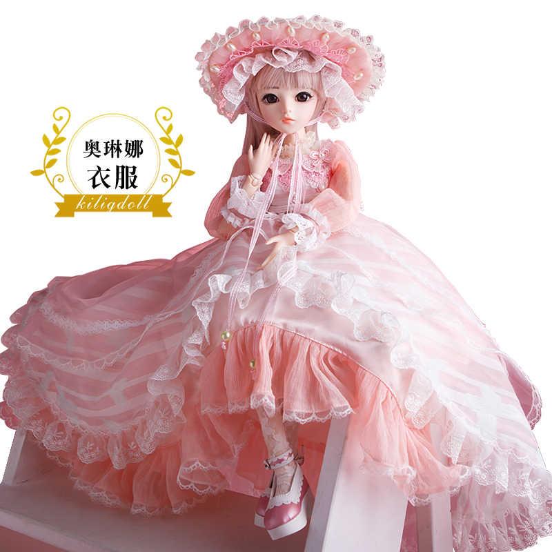 BJD 60 см игрушки куклы Одежда высшего качества китайские куклы 18 совместных БЖД шаровой шарнир куклы модная одежда для девочек подарок Olinna