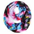 [Ода К Радости] женская мода шарф цветок печати шифоновые шарфы платки шарфы Бесконечность Шарф Loop святого валентина день подарков