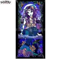 Little Mermaid Cartonn Girl Gift Diy 5d Full Diamond Painting Diamond Embroidery Diamond Cross Stitch Stickers