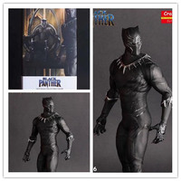 MCR HOT DC Crazy Toys 1:6 Avengers Infinity War Super Hero Black Panther Action Figure PVC Toy Brinquedos 28cm Toys For children