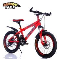 велосипед 20 22 дюймов дорожный велосипеды велосипед детский для 8 15 лет детский дисковый тормоз велосипед с колокольчиком крыло тормозной ры