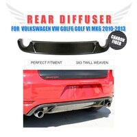 Карбоновый задний бампер диффузор спойлер для Volkswagen VW Golf 6 VI MK6 GTI бампер 2010 2013