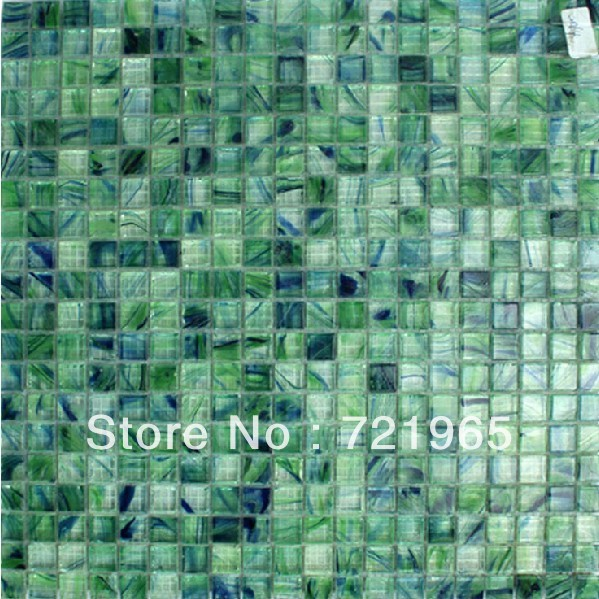 Blue And Green Stained Gl Mosaic Tile Backsplash Igmt037 Crystal Tiles Kitchen Wall Sticker Bathroom