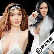 Азиатская женская модель человеческого тела, черные/каштановые волосы(не включая ткань) для искусства