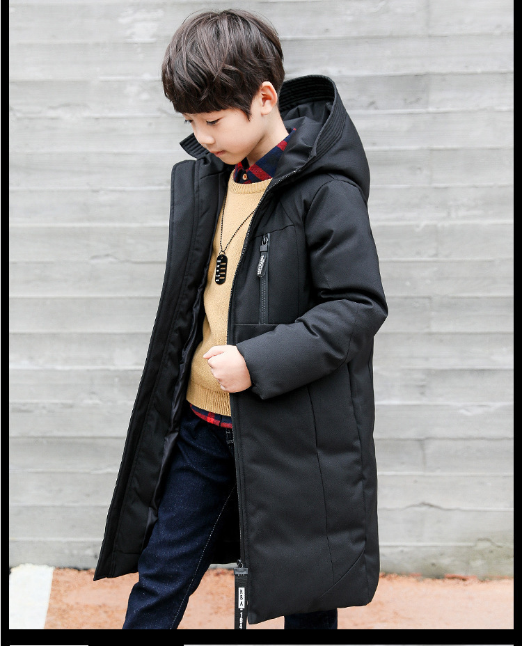 -30 degree children clothing 19 boy clothes warm winter down cotton jacket Hooded coat waterproof thicken outerwear kids parka 7