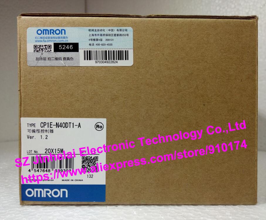 100% New and original CP1E-N40DT1-A OMRON PLC [zob] new original omron omron beam photoelectric switch e3jk tr12 c 2m 2pcs lot