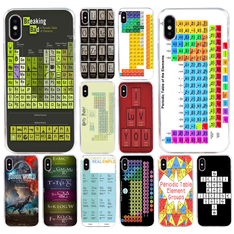 image regarding Printable Phone Case titled US $1.0 24% OFF136H printable periodic desk of things style and design Tender Silicone Tpu Go over telephone Scenario for apple iphone 5 5s se X XR XS Max scenario-inside of Equipped