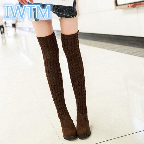 Popular Flat Heel Thigh High Boots-Buy Cheap Flat Heel Thigh High ...