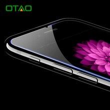 Otao закаленное стекло-экран протектор фильм для apple iphone 7 6 6s плюс 9 h hd ясно ультра тонкий защитный анти-нуля
