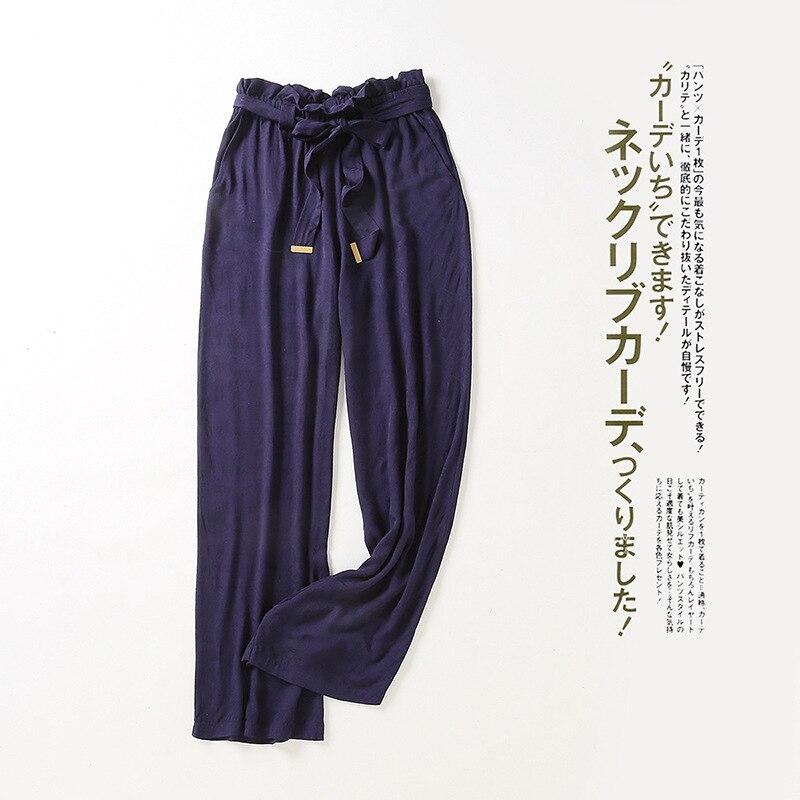 Spring New Women Casual   Pants   Mid-waist Broad   Leg   Trousers Ankle-Length   Wide     Leg     Pants   Women Sweatpants Plus Size Lace Up   Pants