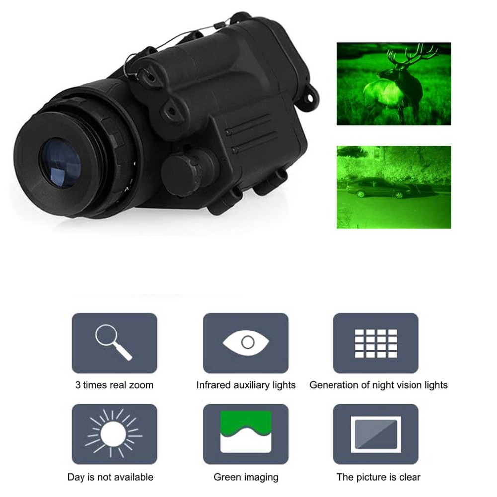 Hunting Night Vision Riflescope Monocular Device Waterproof Night Vision Goggles PVS-14 Digital IR Illumination For Helmet New xm 05 7 0 resistive screen win ce 6 0 gps navigator w europe map tf built in 4gb flash memory