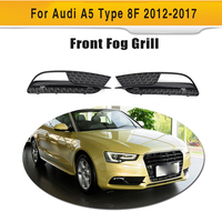 Black ABS Fog Light Grill Protective Mesh Covers Lower Racing Grills for Audi A5 8F standard only 2012 2017 2PCS