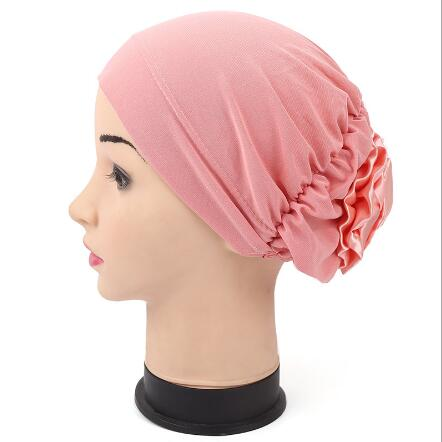 2017 New Muslim headgear cap scarf fashion India cap Cancer Chemo Hair Loss Cap Color Hat Flower Headcover for women elite screens 104 6x185 9см electric 16 9 рулонный