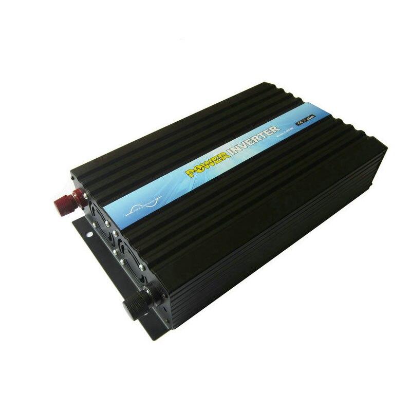 Инвертор 1500 Вт Чистая синусоида мощность 12 В 220 В 50 Гц, дистанционное управление, Великобритания Европа универсальная розетка