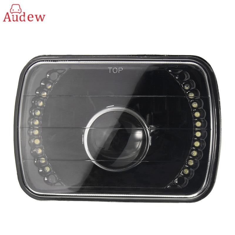 1Pcs H6014/H6052/H6054 7x6Inch Black LED Ring Projector Headlight Black Conversion Shell For GMC/Savana/Jeep/Mazda/Mercedes/Benz аккумулятор yoobao yb 6014 10400mah green