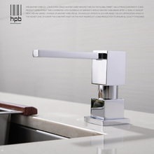 Купить с кэшбэком HPB Kitchen Soap Dispensers Deck Mounted  Chrome Polished Soap Dispensers for Kitchen Built in Countertop Dispenser H4501