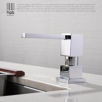 HPB Kitchen Soap Dispensers Deck Mounted Chrome Polished Soap Dispensers For Kitchen Built In Countertop Dispenser