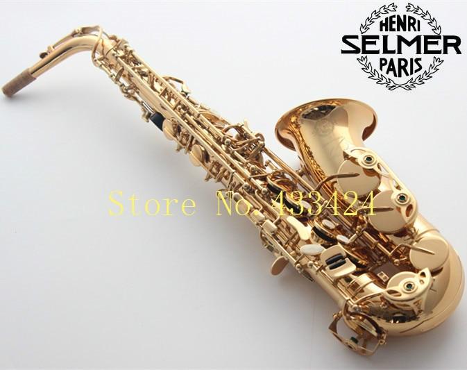 French Selmer 54 E Flat Alto Saxophone Eb Top Musical Instrument Saxe Plated Gold Process Sax Professional good quality saxofone цена и фото