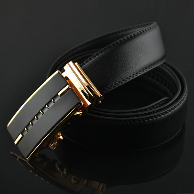Business Belts For Men Ceinture Luxury Genuine Leather Belt  Buckle Wide Belt Fashion Jeans Men Brand Pants Strap 130cm Q170