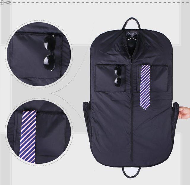 500c618392d3 high-grade PU Hangin Coat Clothes Garment Suit Cover Bag Dustproof Hanger Storage  Men Travel Bag Women travel bag organizer