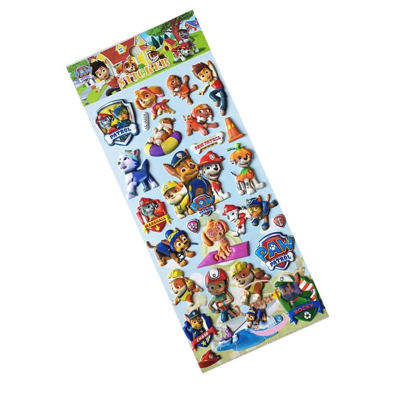 10 шт./компл. рисунком «Щенячий патруль» Стикеры игрушка Patrulla Canina Фигурки игрушки детские игрушки подарки