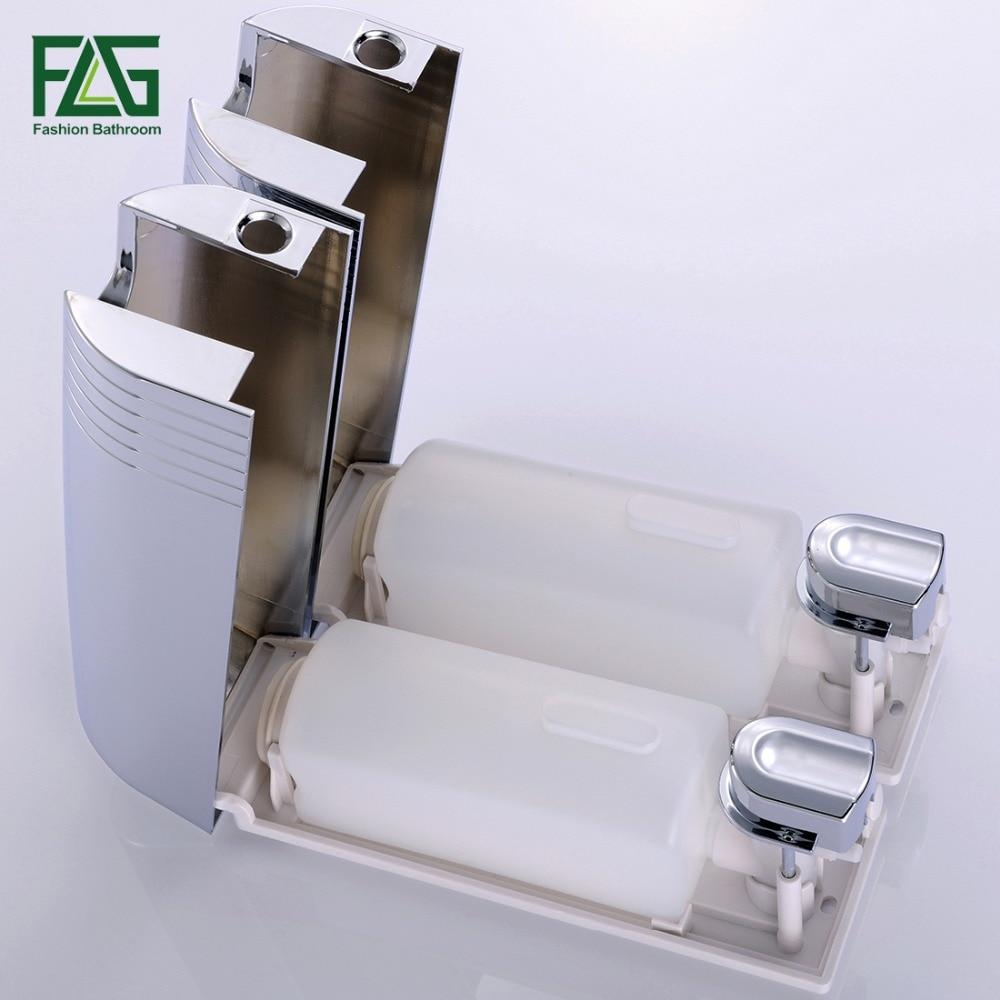 FLG Cheapest Double Soap Dispenser Wall Mounted Soap Shampoo Dispenser  Shower Helper For Bathroom Hospital Hotel Supply 9050C 2 In Liquid Soap  Dispensers ...