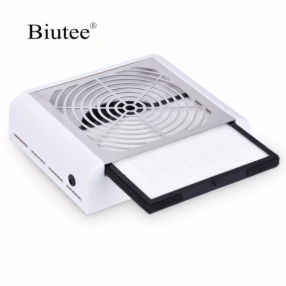 Biutee40 watt Nail Dust Collector Manicure Machine Suction Nail Drill Dust Fingernail Dirt Professional Powerful Vacuum