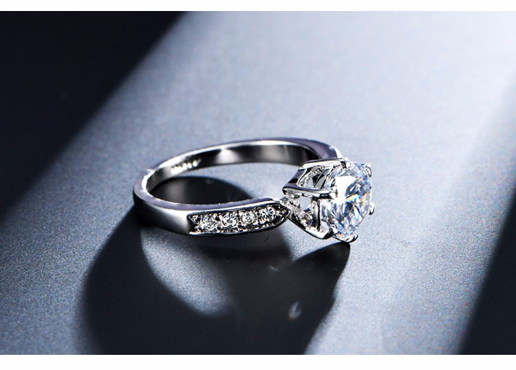 1.75ct AAA Zircon Engagement Rings for women Rose gold color Wedding rings female anel Austrian Crystals Jewelry top quality 7