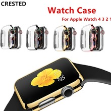 New Watch PC Frame case protective Case for Apple Watch 42mm 38mm Colorful plating cover shell for iwatch series 1 2