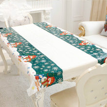 Merry Christmas Rectangular Tablecloth Kitchen Dining Table Covers Christmas Decorations for Home Natal Noel New Year Decoration