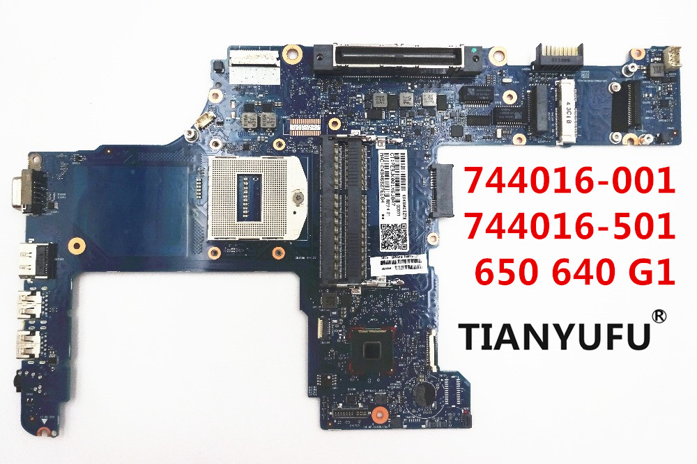 744016 001 744016 501 744016 601 FOR HP probook 650 G1 640 G1 laptop motherboard HM87