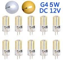 10Pcs G4 5W หลอดไฟ LED ข้าวโพด DC12V ประหยัดพลังงานโคมไฟตกแต่ง CLH @ 8