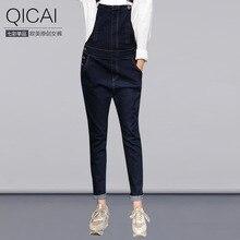 Весна 2016 Европа джинсы женские брюки талии темные джинсовые комбинезоны Гуанчжоу оптовая