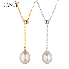 New Pearl Necklace Natural Freshwater adjustable Pearl Pendant Necklace  925 Sterling Silver Jewelry For Women Gift недорого