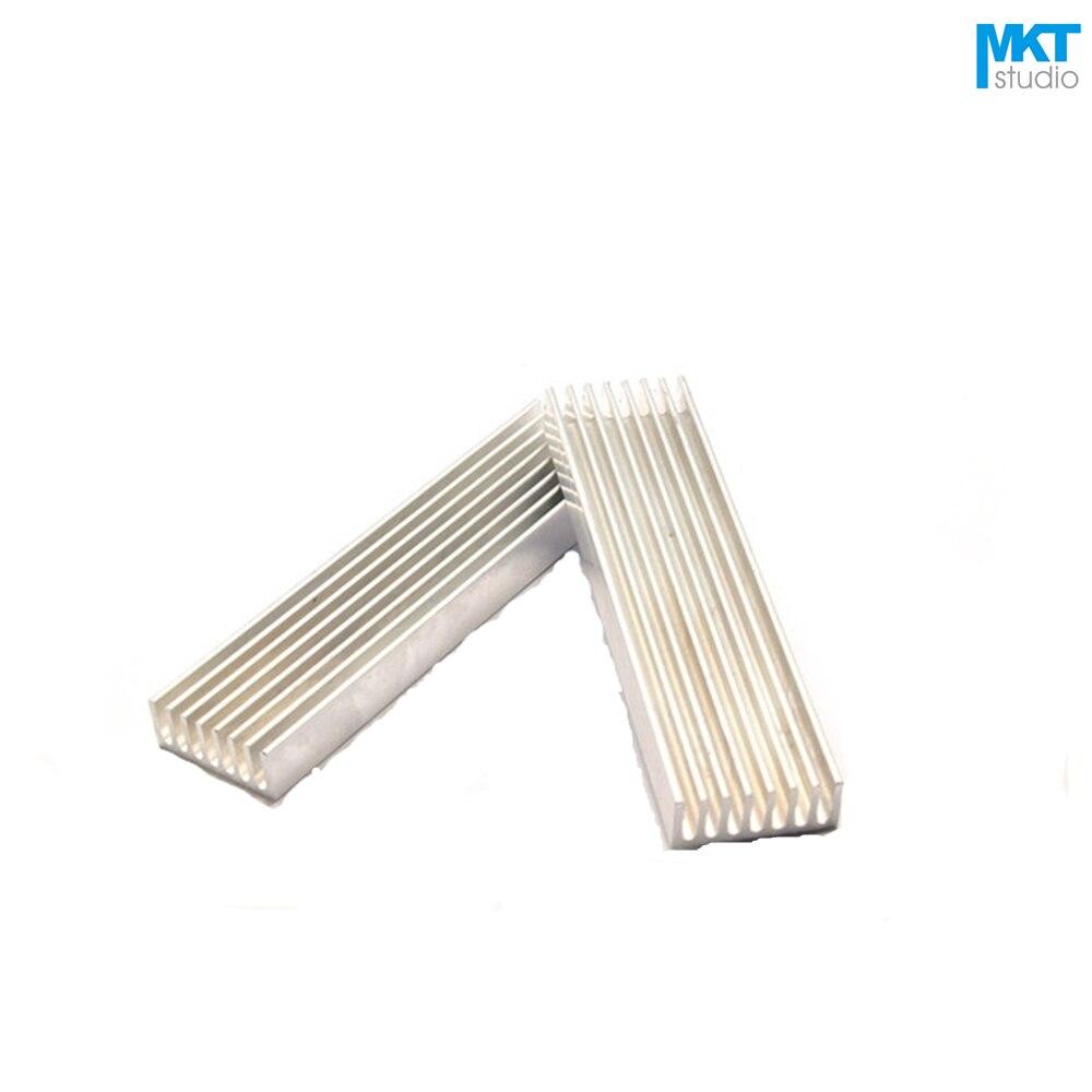 50Pcs 100mmx25mmx10mm Pure Aluminum Cooling Fin Radiator Heat Sink