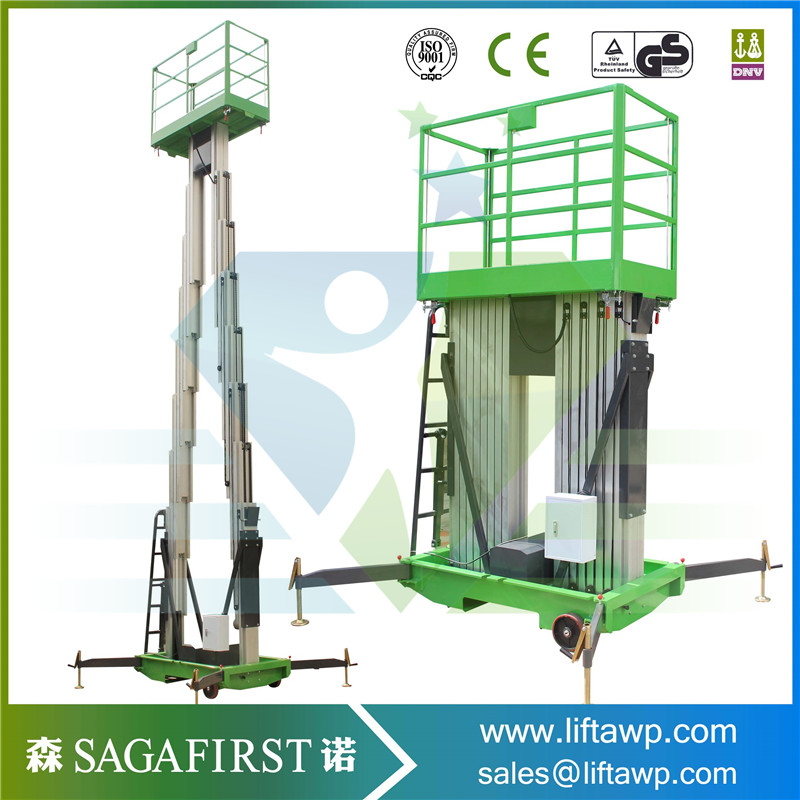 Hotel Use Mobile Aluminium Work Platform With CE Certificate 6m 8m 10m 14m Factory Outlet