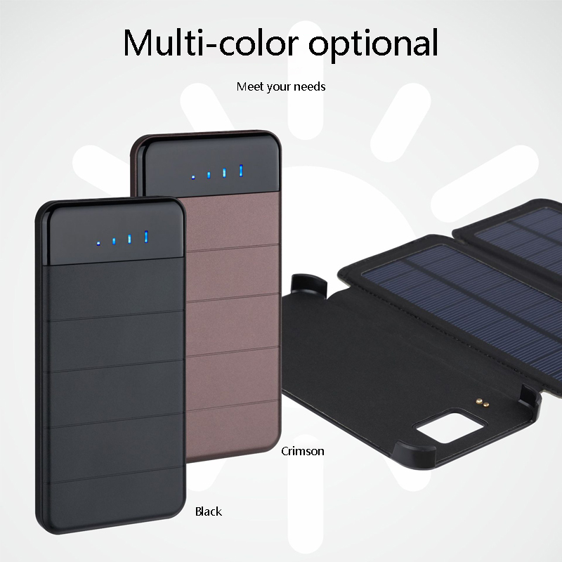 Solar Power Bank 20000mAh Waterproof Solar Charger External Battery Backup Pack for Cell Phone Tablets for