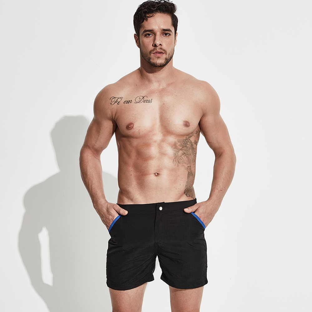 رجل السراويل الصيف الشاطئ تصفح السباحة الرياضة ملابس السباحة الرجال Boardshorts رجل مجلس قصيرة سريعة الجافة برمودا ملابس السباحة حجم XXL بطانة